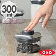 OXO オクソー ポップコンテナ ステンレス スモールスクエア ミニ 300ml ( 保存容器 密閉 プラスチック 透明 調味料容器 ストッカー キッチン用品 調味料入れ 乾物ストッカー オクソ オクソーポップコンテナ コンテナ 調味料 収納 スタッキング ) 10P23Apr16