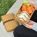 お弁当箱 網代弁当箱 大 竹製 バンド付 ( 送料無料 サンドイッチケース 和風弁当箱 ランチボックス あじろ おにぎりケース 和風 )