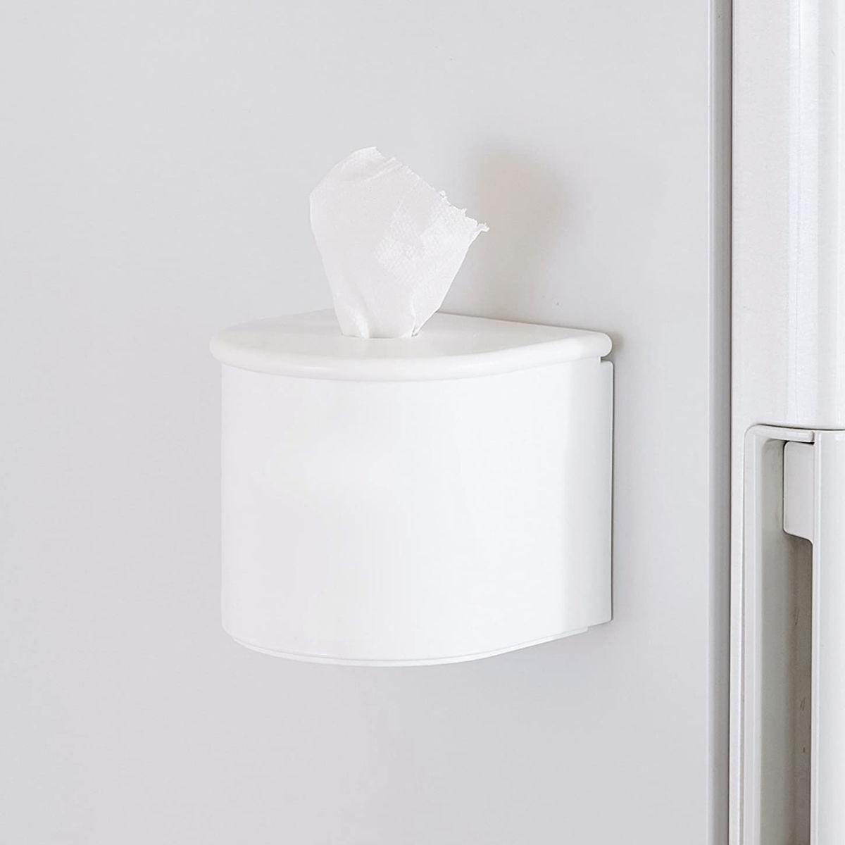 ティッシュホルダー マグネットロールティッシュホルダー Mag-On 磁石 ( トイレットペーパー 収納 ホルダー ティッシュケース 冷蔵庫横 収納 )