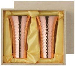 アサヒ 食楽工房 純銅ビアカップ 380ml 2PCセット 【桐箱入】 CNE970 日本製