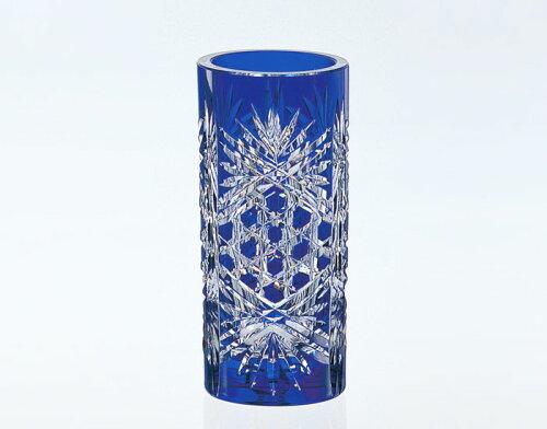 カガミクリスタル 江戸切子 花瓶 F683-1971CCB