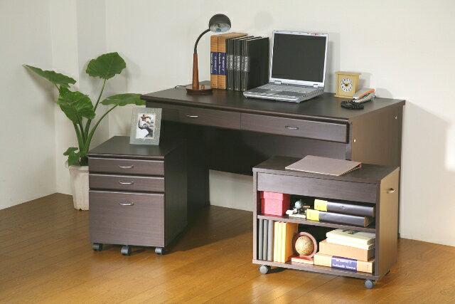 パソコンデスク 書斎机 システムデスク3点セット120cm幅 25165・25169