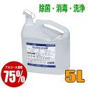 ニチネン マイアルファ75 5L 業務用洗浄剤 アルコール製剤 食品添加物 除菌 アルコール消毒 アルコール除菌 大容量 詰め替え用 エタノール ウイルス除去