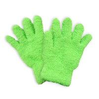 (メール便全国送料無料)(マイクロファイバー繊維)らくらくお掃除手袋(1組)-細かい「ホコリ」や「チリ」もサッと一拭き!ブラインドカーテン・家具・家電・車内等、カンタン拭き掃除!【smtb-s】