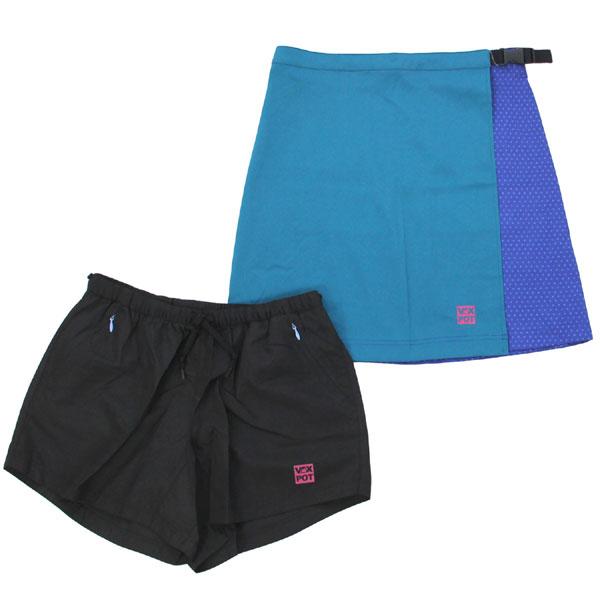 バックスポット 3WAYラップスカート ショートパンツ付