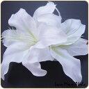 ヘアクリップ 髪飾り L001(L323)カサブランカ フラダンス ポイント消化 makanilea ホワイトデー