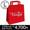 Triumph トリンプ ブラ&ショーツ 2セット福袋(Lサイズショーツ)【返品不可商品】...