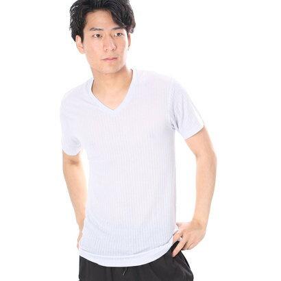 ウォーキンシステマ WALKIN'SYSTEMA VネックTシャツ/コールドステージ (グレー)