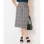 any SiS 【洗える】ベルテッドタイト スカート (ブラック系2)