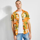 【アウトレット】ゲス GUESS GUESS x J BALVIN TROPICAL PRINT SHIRT (TROPICAL VIBRAS PRINT)