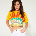 【アウトレット】ゲス GUESS GUESS x J BALVIN CROP TEE (VOLTAGE YELLOW)