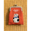 ショッピングポチ袋 【カヤ】日本の民芸 お守り縦長がま口 ポチ袋 レッド