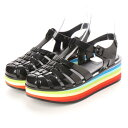 ショッピングmelissa メリッサ melissa Melissa Possession Platform Stripes (BLACK)