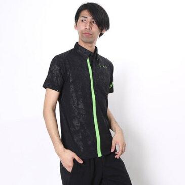 【アウトレット】オークリー OAKLEY ゴルフシャツ Bark Leaf Shade Transfix Shirt 433633JP ブラック (Jet Black)