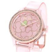 フォリフォリ Folli Follie JELLY WATCH SANTORINI FLOWER EDITION (コーラルピンク)