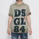 【アウトレット】デシグアル Desigual Tシャツショートスリーブ DIONISIO (グリーン)