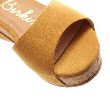 【アウトレット】ブリジットバーキン Bridget Birkin 単色スエード素材ウェッジサンダル(イエロースウェード)