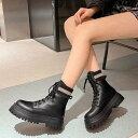 ショッピングラバーシューズ ロディック Rodic レディース 靴 ブーツ ショートブーツ ブラック 黒 ラバーシューズ レースアップシューズ 編み上げ ソックスブーツ