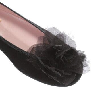 �ڥ����ȥ�åȡۥץ�ƥ����Х��� Pretty Ballerinas ROSARIO suede chiffon�ʥ?�ꥪ �������� ���ե���˥Х쥨���塼���ʥ֥�å���