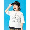 シューグー キッズ SHOO-LA-RUE(Kids) 【マークゴンザレス】レイヤード五分袖T (アイボリー)
