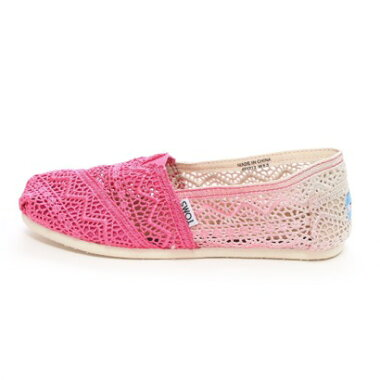 �ڥ����ȥ�åȡۥȥॺ TOMS CHAPTER WOMENS-SEASONAL CLASSICS��Fuschia Dip-Dyed Crochet��