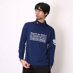 ルコックスポルティフ le coq sportif ゴルフシャツ ナガソデシヤツ(ハイネツク) QG1018 (ネイビー)