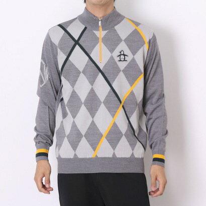 マンシングウェア Munsingwear ゴルフセーター  SG4329 (グレー) 【】【交換・返品可能】/マンシングウエア/Munsingwear/ゴルフ/ゴルフウェア/ロコンド/