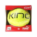 プーマ PUMA サッカーボール(4号球) プーマキング グラフィック J 082499 562 (セーフティ イエロー×ブラック)