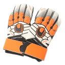 ウールスシュポルト uhlsport サッカーキーパーグローブ エリミネーターソフト サポートフレーム 1000171 (ホワイト×オレンジ)