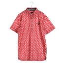 キャロウェイ Callaway ゴルフシャツ トマトプリントワッフルショートワイドカラーシャツ 6157529 (ホワイト)