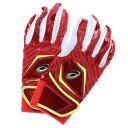 アシックス asics バッティンググローブ(両手) ゴールドステージSPEED TECH SC バッティング用手袋(両手) BEG160 (レッド×レッド)