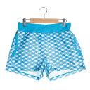 パラディーゾ PARADISO テニスパンツ レディスショートパンツ DCL02S ブルー (ターコイズ)