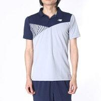 【アウトレット】ニューバランス new balance メンズ テニス 半袖ポロシャツ BRコンペティションカラーブロックポロ JMTT6673の画像
