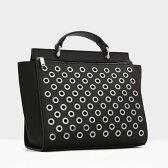 マンゴ MANGO Decorative studs bag (black)