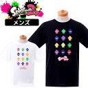 ショッピングスプラトゥーン2 スプラトゥーン2 メンズ プリント 半袖Tシャツ スプラトゥーン2 グッズ 半袖tシャツ メンズ プリント ネイビー ホワイト 大人 送料無料