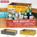 【木箱】 MERCURY マーキュリー ウッドボックス リサイクルウッド クレート キッチン収納 収納ボックス 木製収納ボックス おもちゃ箱 整理箱 ガレージ収納 おしゃれ アメリカン雑貨