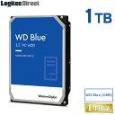 WD 製 Blue モデル 内蔵ハードディスク HDD 1TB 3.5インチ ロジテックの保証・無償ダウンロード可能なソフト付【LHD-WD10EZRZ】