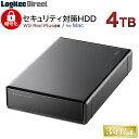 ロジテック ハードウェア暗号化セキュリティ機能(ASE256bit)搭載 WD Red採用 外付けハードディスク HDD 4TB Mac用 3.5インチ USB3.1(Gen1) / USB3.0 国産 省エネ静音