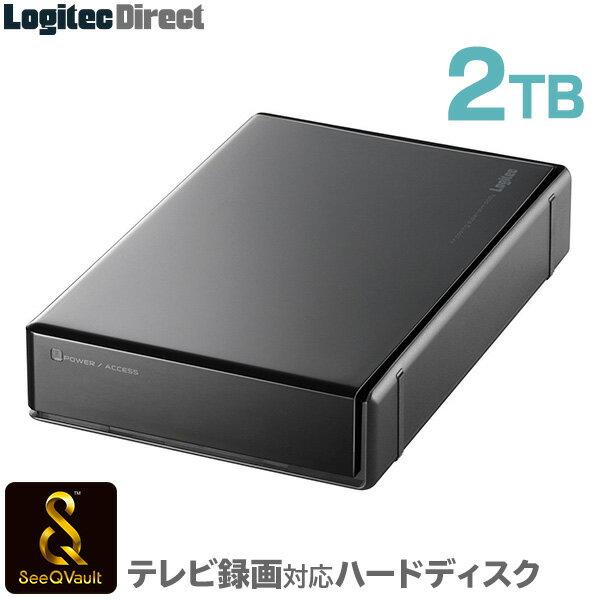 ロジテック SeeQVault対応 外付けハードディスク HDD 2TB 3.5インチ USB3.0 テレビ録画専用 国産 省エネ静音 WD Blue搭載 シーキューボルト【LHD-EN20U3QW】