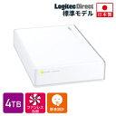 【LHD-ENA040U3WSH】【4TB】★国内生産★静音・省エネ WDドライブ採用USB 3.0対応 熱に強い!外付けハードディスク