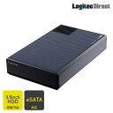 ロジテック HDDケース 3.5インチ 外付 冷却ファン搭載 USB3.0 eSATA 【LHR-EJEU3F】