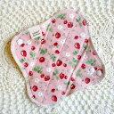 パンティーライナー すぃーとこっとん 【クロネコDM便送料無料】dライナー用(ピンクいちご)おりものライナー・おりものシート・おりもの用ライナー/生理用品・布ナプキン・布ナプ/お試しに♪