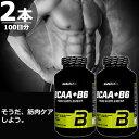 BioTech USA BCAA + B6 筋肉増強 代謝促進 筋肉疲労 早期回復 200錠×2本