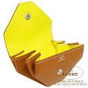 エルメス[HERMES] ル・ヴァンキャトル ヴェルソ [Le 24 Verso] コインケース エプソン ゴールド×ライム [GOLD(37)/LIME(9R)] シルバー金具