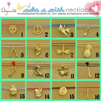 ☆ Dogeared ドギャード MAKE A WISH string gold charm necklace mcgk to send immediately