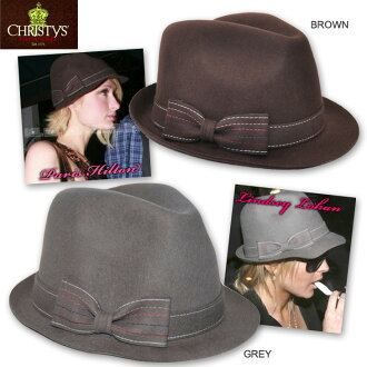 CHRISTYS ' Christie's hat Crown series felt caps & hats side with Ribbon caps Hat Cap CCS72