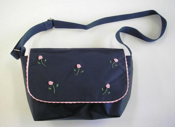 薔薇の手刺繍入りアンストリート通園バッグ幼児用ショルダーバッグピアノバッグショルダーバッグアンストリ
