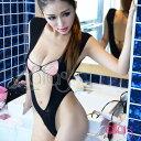 セクシー ランジェリー sexy lingerie 花柄刺繍の危険なハイレグスタイルテディ(ブラック/黒)【全身タイツ/レディース/インナー/セクシー下着/激安/かわいい/セクシーランジェリー/特価】