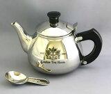 可爱的不锈钢茶壶,茶杯2杯满负荷生产。茶和美味的家庭办公和享受奶茶。不锈钢单人(400毫升)钢茶壶] [易礼品包装[紅茶専門店ならではの視点から開発。容量はたっぷりティーカップ2杯分♪ティーポット 1人用 ステン