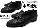 LUCIANO VALENTINO ルシアーノ・ヴァレンチノ メンズ 本革 ビジネスシューズ タッセル ビット スリッポン ラウンドトゥ 型押しレザー 革靴 紳士靴 靴 くつ 父の日